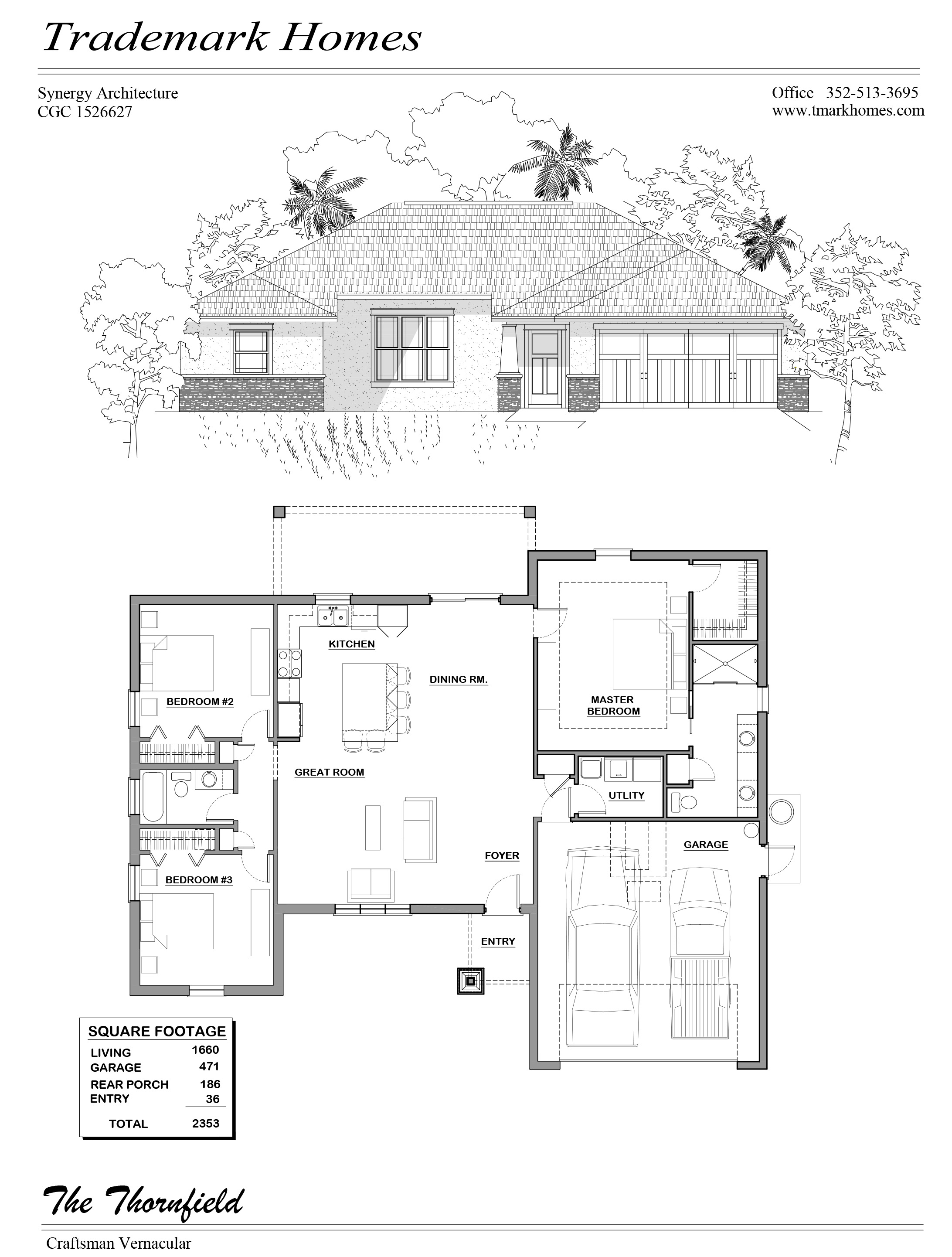 Thornfield Model Home Floor Plan Trademark Homes Citrus County